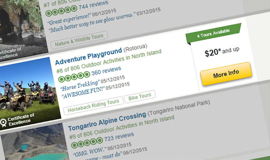 A Tripadvisor Top 10 North Island Activity!